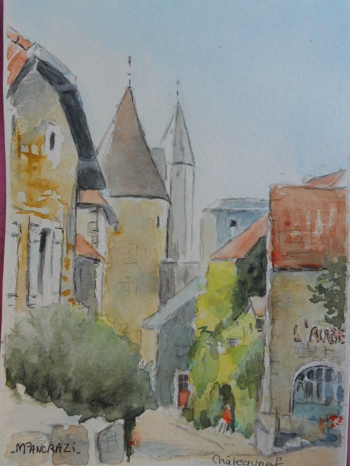 Châteauneuf en Auxois, le Château,13x18