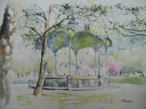 Kiosque Place Wilson, printemps Dijon; 21x29,7