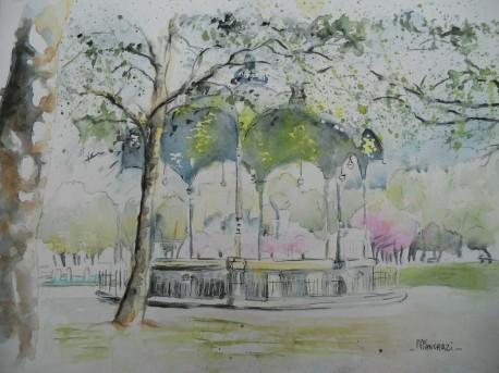 Kiosque Place Wilson, printemps Dijon; 21x29,7