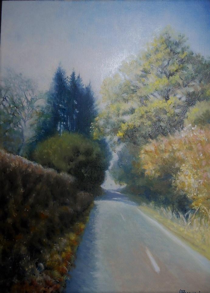 Route de Chissey en Morvan; huile 46x33