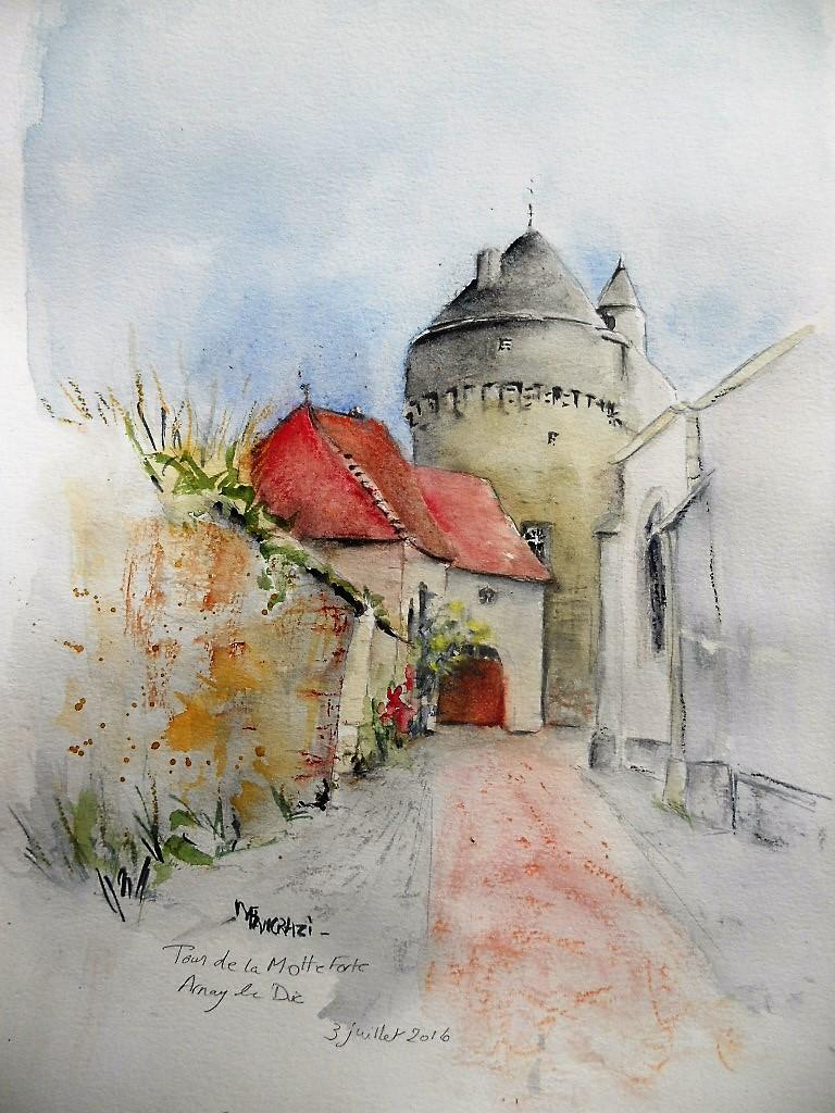 Tour de la Motte Forte (30x40)