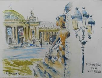 Le Grand Palais , vu du Petit Palais