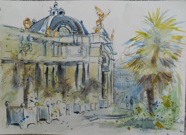 Le Petit Palais, le péristyle