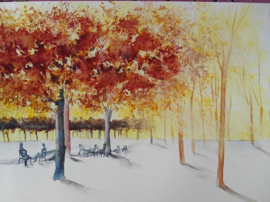 2ème stage d'aquarelle sur les lumières et transparencesd'automne