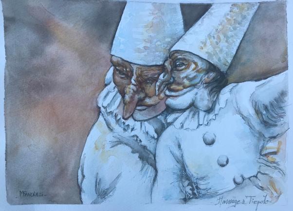 Hommage à Tiepolo;Aquarelle 24x32