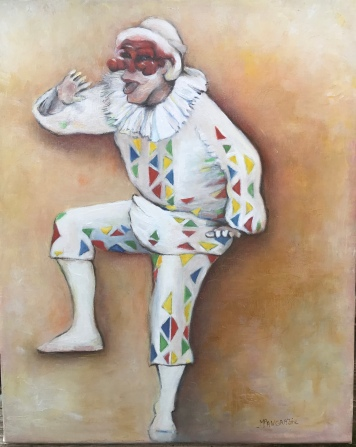 Arlequin Danse, Huille sur Chassis, lin 41x33