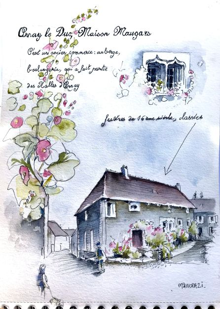 Carnet de Voyage, Arnay le Duc 2019