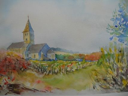 Eglise de Fixey 24x30