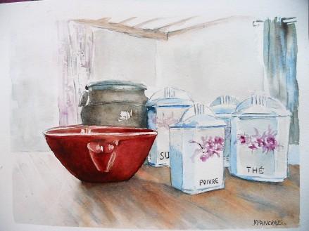 Pots à Epices, Aquarelle 24x32