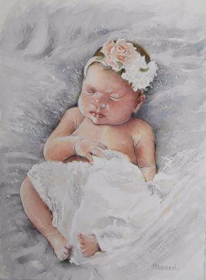 Bébé -fille 24x32