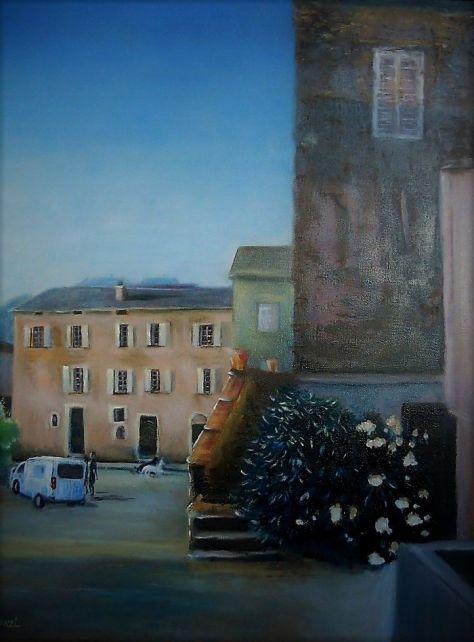 Place Santelli, huile 46x61; 12P