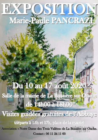 Marie-Paule Pancrazi  expose à Labussière-sur Ouche ( ancienne école communale deLabussière)