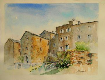 Maison A. Rémy, Pietra di Verde;aquarelle 30x40,Papier Bockingford
