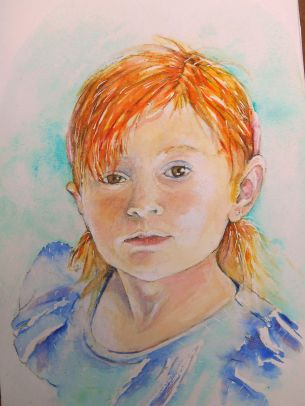 Savanah, aquarelle 16x24, papier Montval